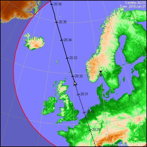 satellitt kart Satellitter | Norsk meteornettverk satellitt kart