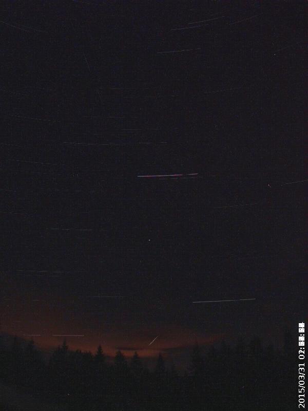 meteor sett fra Harestua